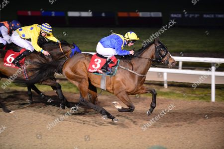 Stock Image of DUNDALK. POETIC CHOICE and Robbie Downey wins from ROSE ANGEL and ISHEBAYORGREY for trainer Keith Clarke.