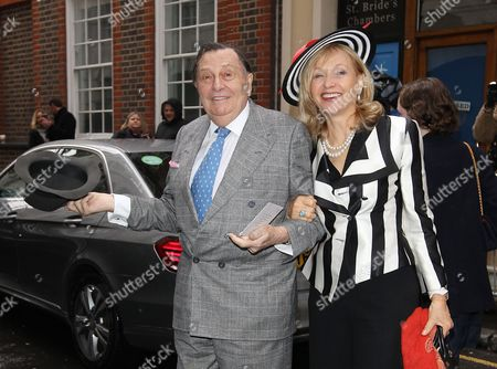 Editorial image of Rupert Murdoch and Jerry Hall wedding at St. Bride's Church on Fleet Street, London, Britain - 05 March 2016