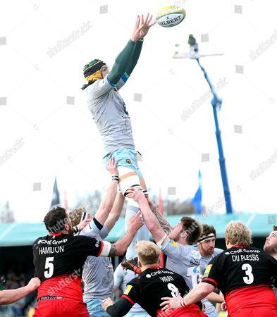 Editorial photo of Saracens v Northampton Saints, Aviva Premiership, Rugby Union, Allianz Park, London, Britain - 05 Mar 2016