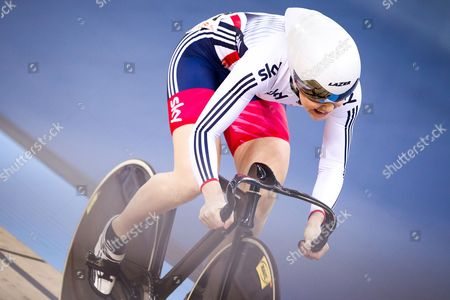 Stock Picture of Great Britain's Jessica Varnish competes in the Women's Sprint Qualification.
