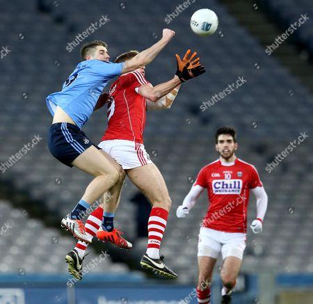 Dublin's Emmet O'Conghaile and Ian McGuire of Cork