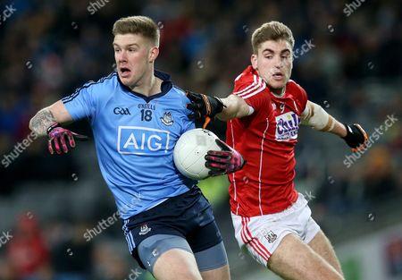Dublin's Shane Carthy and Ian McGuire of Cork