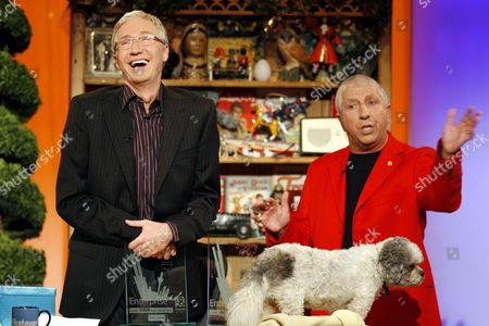 Paul and Buster received a Scouseology award each from BBC Radio Merseyside DJ Pete Price.