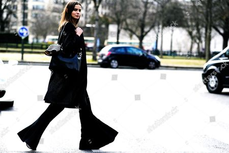 Editorial picture of Street Style, Autumn Winter 2016, Paris Fashion Week, France - 04 Mar 2016