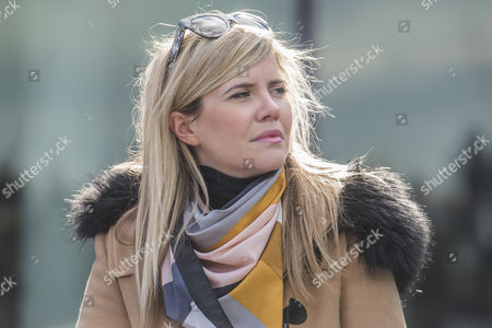 Emma Barnett, BBC Radio 5 and Telegraph women's editor during the 'Walk in Her Shoes' march