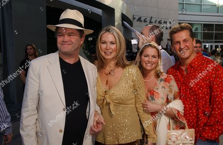 Stock Picture of Micky Dolenz and WIfe, Amy Dolenz and Guest