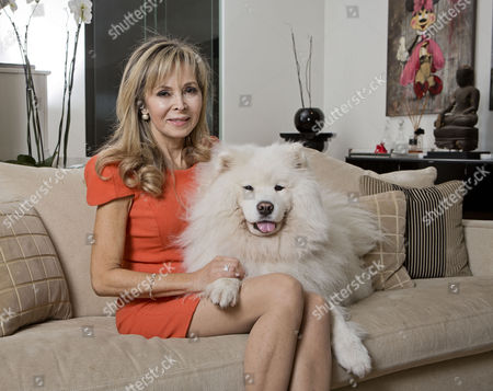 Cookery Writer Annabel Karmel And Her Beloved Dog Hamilton Who Was Kidnapped.
