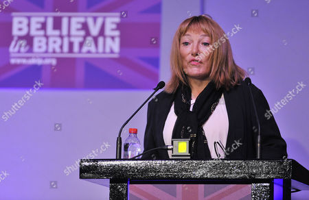 Editorial image of Pic Bruce Adams / Copy Unknown - 28/2/15 Ukip Spring Conference At The Margate Winter Gardens Margate Kent. - Ukip Representative Kellie Maloney (formerly Frank Maloney).