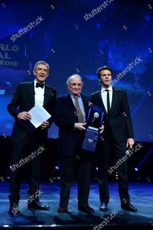 Stock Picture of Ezio Greggio, Claude Brasseur, Filiberto Emanuele di Savoia