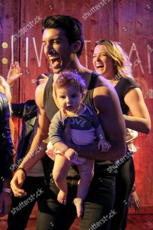 Justin Baldoni, Emily Baldoni and Maiya Grace Baldoni participate in a Lip Sync Battle