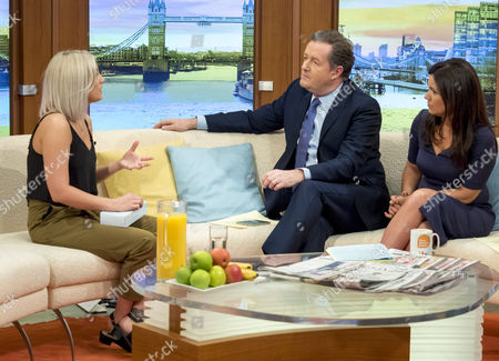 Aimie Adam with Piers Morgan and Susanna Reid