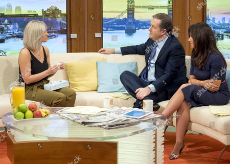 Stock Image of Aimie Adam with Piers Morgan and Susanna Reid