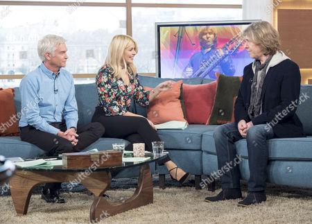 Phillip Schofield and Holly Willoughby with Graeme Duffin