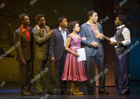 Right ;Charl Brown as Smokey Robinson, Cedric Neal as Berry Gordy