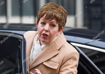 Leader of the House of Lords Baroness Stowell MBE arrives for the Cabinet Meeting.