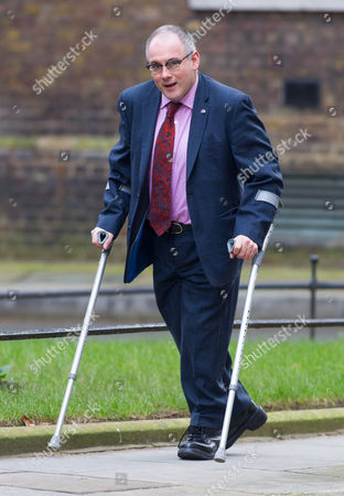 Minister without Portfolio Robert Halfon MP arrives for the Cabinet Meeting.
