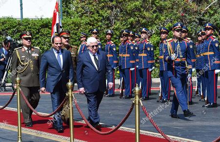 Egyptian President Abdel Fattah al-Sisi meeting with his Iraqi counterpart Fuad Masum