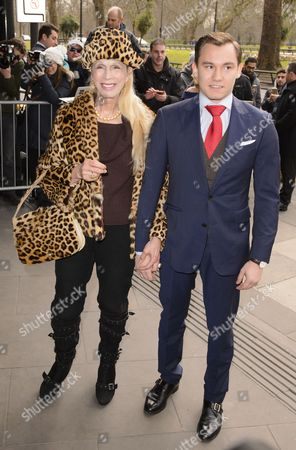 Lady Colin Campbell with son Dima Ziadie