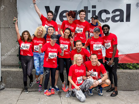 Stock Photo of George Gilbey, Hatty Keane, Jake Sims, Pascal Craymer, Sarah Lamptey, Gail Porter, Rachel Christie, Calum Best, George Lineker, Kieran McLeod, Nell McAndrew and Martin Lewis