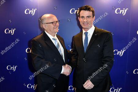 Roger Cukierman and Manuel Valls