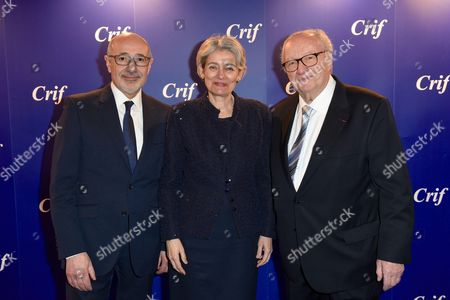 Francis Kalifa, Irina Bokova and Roger Cukierman