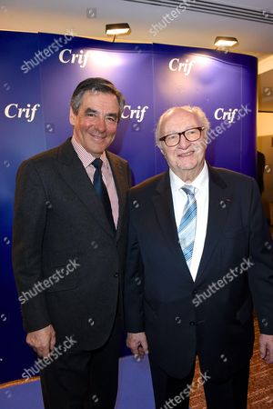 Francois Fillon and Roger Cukierman