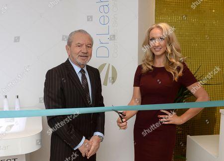 Lord Alan Sugar and Dr Leah Totton