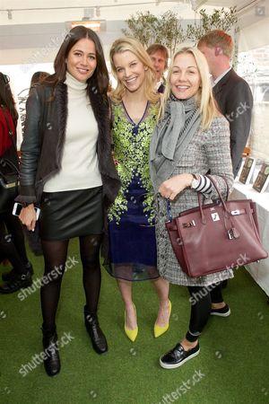 Kim Johnson, Julie Montagu and Caroline Fleming