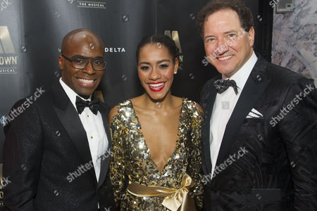 Cedric Neal (Berry Gordy), Lucy St Louis (Diana Ross) and Kevin McCollum (Producer)