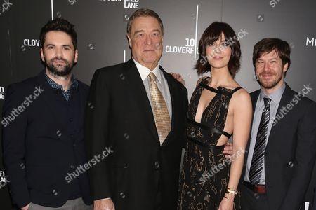 Dan Trachtenberg, director, John Goodman, Mary Elizabeth Winstead and John Gallagher Jr.