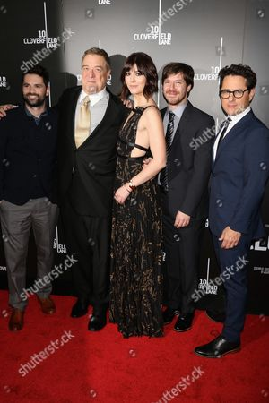Dan Trachtenberg, director, John Goodman, Mary Elizabeth Winstead, John Gallagher Jr. and JJ Abrams