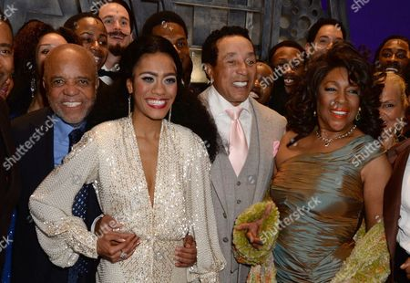 Berry Gordy, Lucy St Louis, Smokey Robinson and Mary Wilson