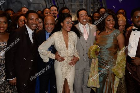 Charles Randolph-Wright, Berry Gordy, Lucy St Louis, Smokey Robinson and Mary Wilson