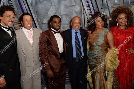 Charl Brown (Smokey Robinson), Smokey Robinson, Cedric Neal, Berry Gordy (Producer/Music/Lyrics), Mary Wilson and Cherelle Williams (Mary Wilson)