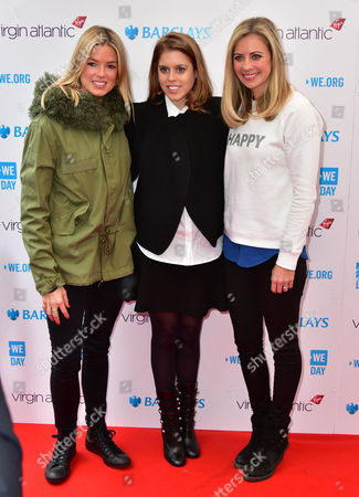 Isabella Calthorpe, Princess Beatrice and Holly Branson