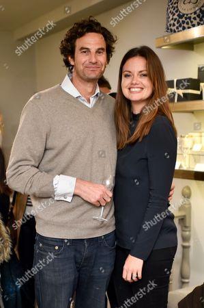 Stock Photo of Rupert Finch and Natasha Rufus Isaacs