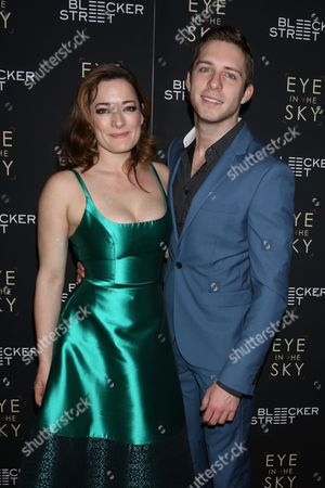 Stock Image of Laura Michelle Kelly and Corey Mach