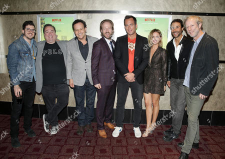 Christopher Mintz Plasse, Peter Principato, Mitchell Hurwitz, David Sullivan, Will Arnett, Ruth Kearney, Ben Silverman and Mark Chappell