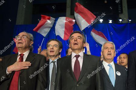 Bernard Debre, Patrick Devedjian, Francois Fillon and Jean Christophe Baguet