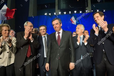 Bernard Debre, Patrick Devedjian, Francois Fillon, Jean-Christophe Baguet and Jerome Chartier