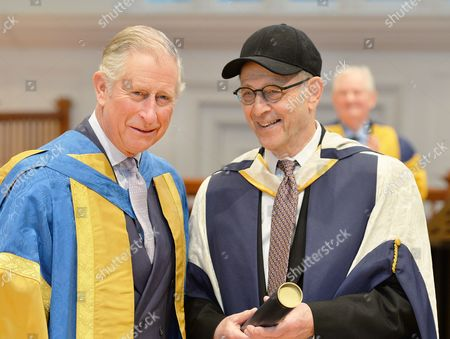 Stock Photo of Prince Charles with Steve Reich after awarding him Doctor of Music as he attends the Royal College of Music's music awards ceremony in central London.