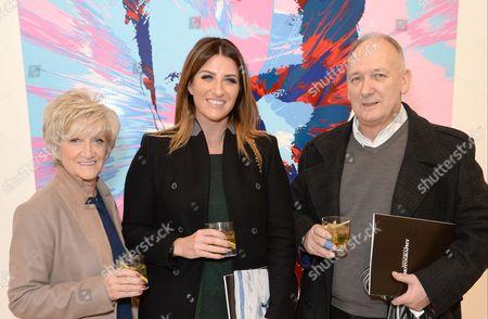 Sandra Beckham, Joanne Beckham and Ted Beckham