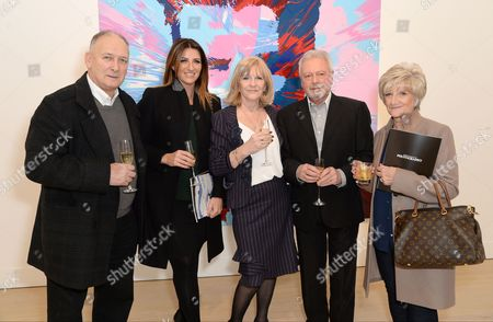 Stock Image of Ted Beckham, Joanne Beckham, Jackie Adams, Tony Adams and Sandra Beckham