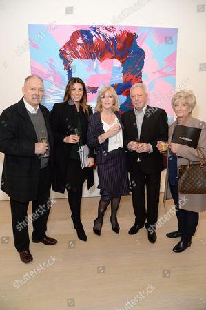 Ted Beckham, Joanne Beckham, Jackie Adams, Tony Adams and Sandra Beckham