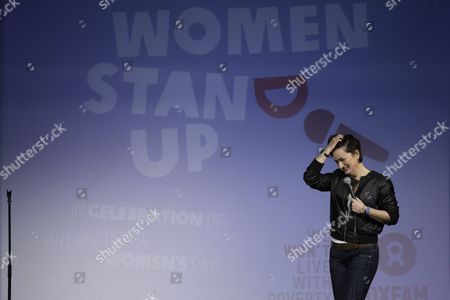 Editorial image of Women Stand Up by Oxfam for International Women's Day at Leicester Square Theatre, London, Britain - 08 Mar 2016