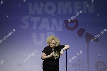 Editorial photo of Women Stand Up by Oxfam for International Women's Day at Leicester Square Theatre, London, Britain - 08 Mar 2016