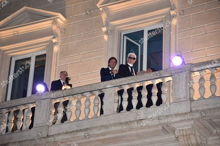 Pietro Beccari and Karl Lagerfeld