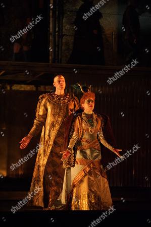 Rebecca Bottone (Queen Tye) and Zachary James (Scribe)