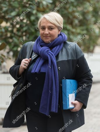 Stock Image of French Junior minister for Elderly People and the Fight against Exclusion, Pascale Boistard