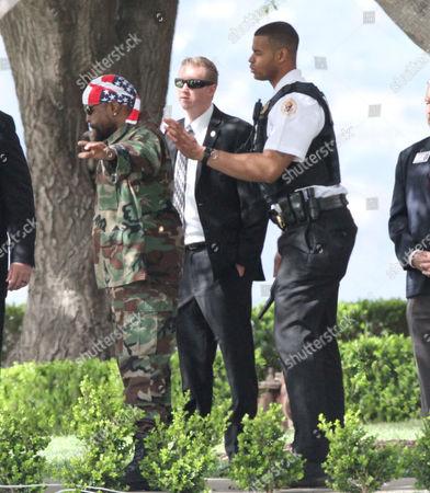 Mr T undergoing security measures